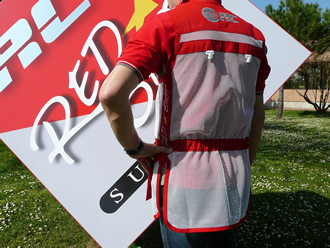 RC Shooting Vest RED SHOT